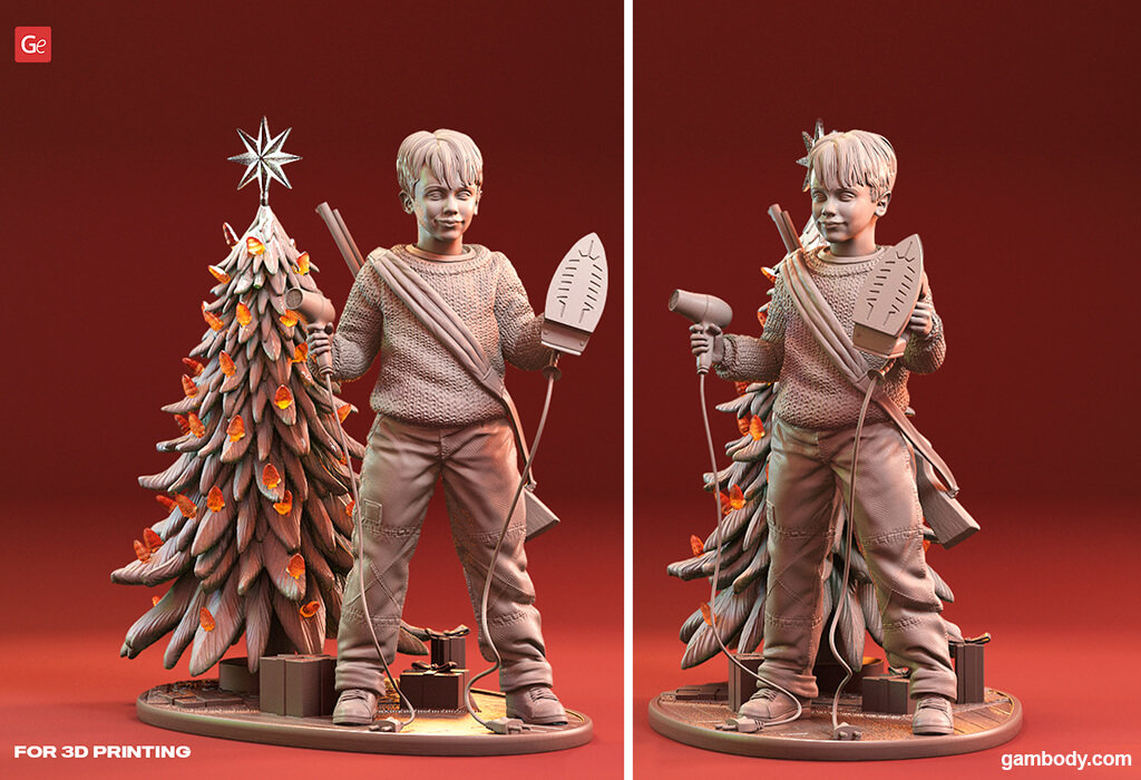 Kevin McCallister 3D printing figurine Home Alone Christmas 3D prints