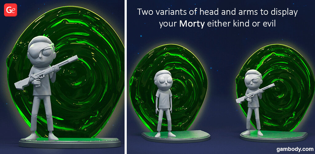 Morty Smith figure for 3D printing