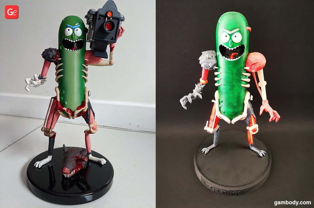 Pickle Rick 3D print model