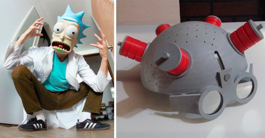 Rick Sanchez 3D print mask and helmet