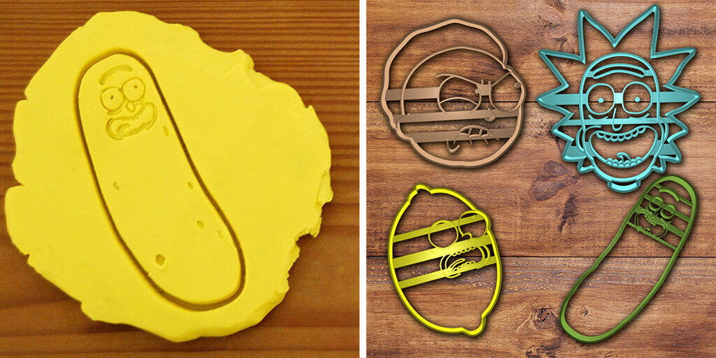 Rick & Morty cookie cutters for 3D printing