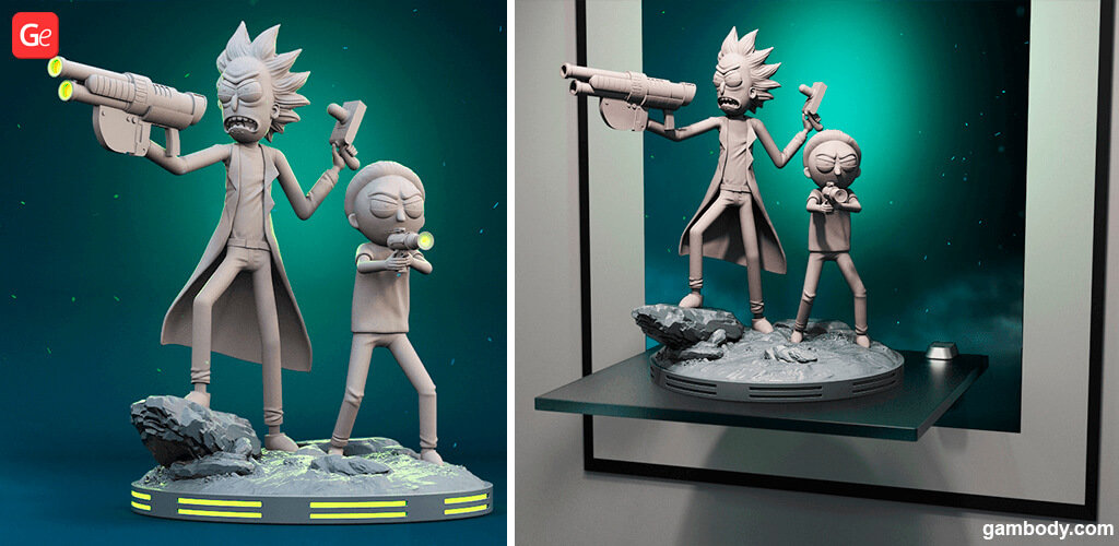 Rick and Morty 3D models for printing
