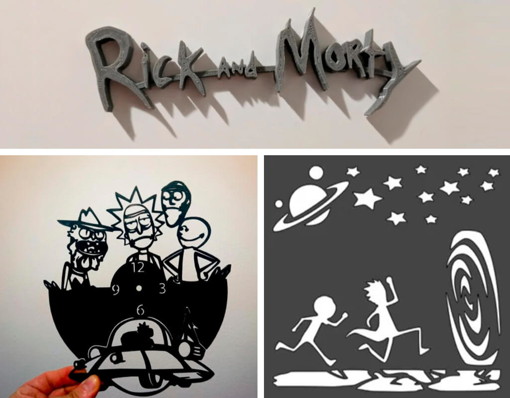 Rick & Morty 3D printing logo and stencils