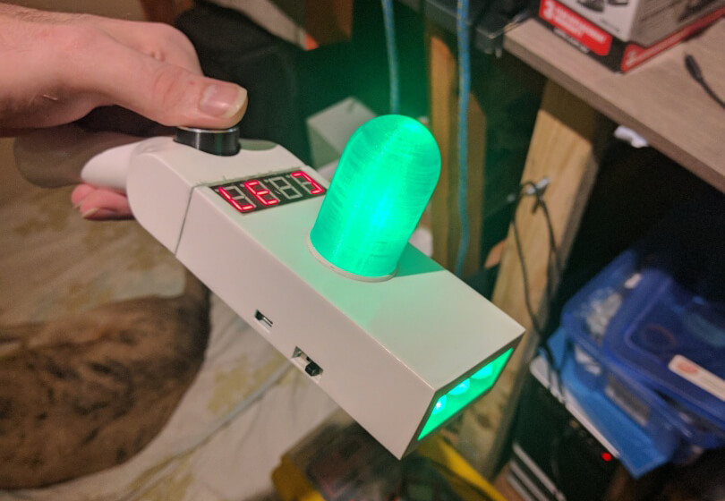 Rick and Morty portal gun 3D print