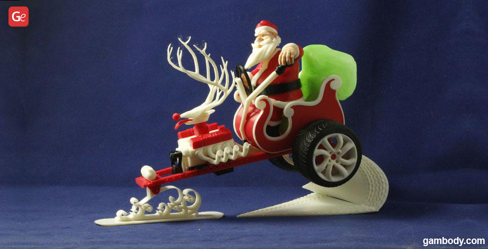 Santa Claus 3D printing Christmas designs