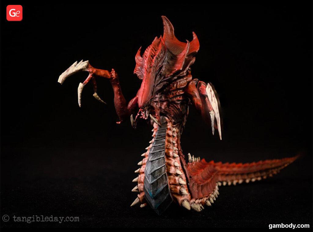 3D printed StarCraft Hydralisk figure