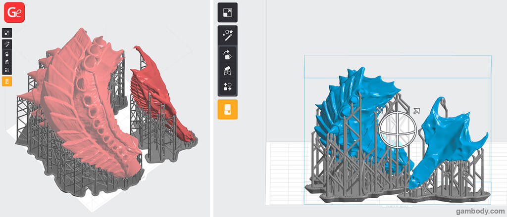 Downscaling the Hydralisk 3D printing model with PreForm software