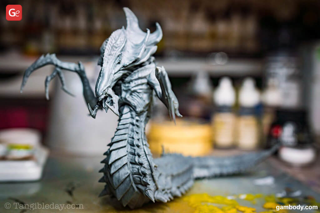 Assembled StarCraft Hydralisk 3D model for printing