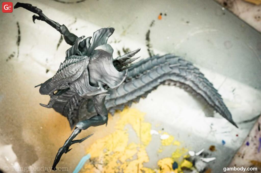 Priming StarCraft Hydralisk 3D print