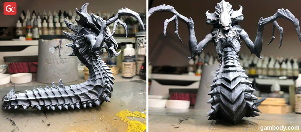 Zenithal highlights added to Hydralisk 3D print