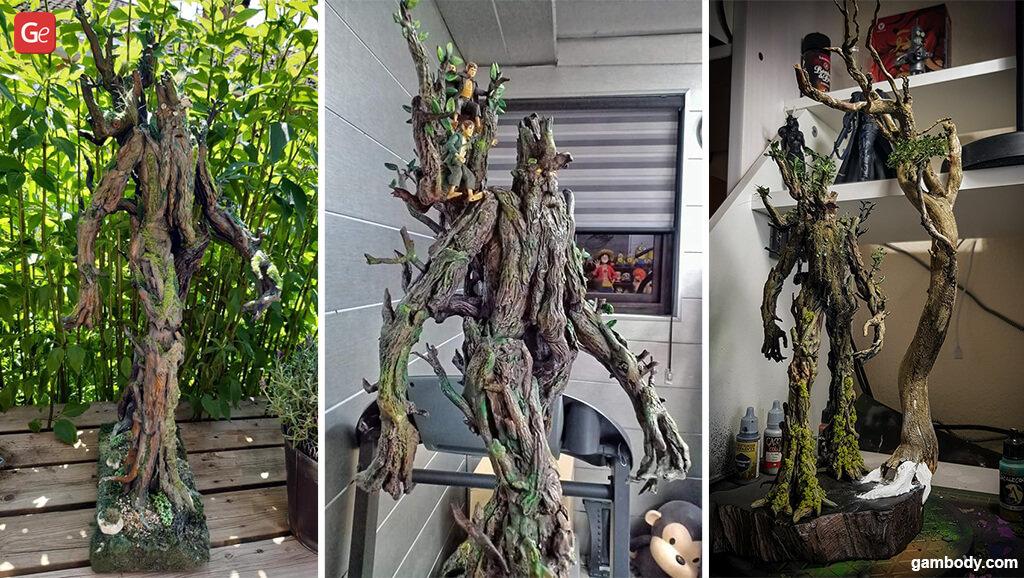 Treebeard Christmas tree 3D printed