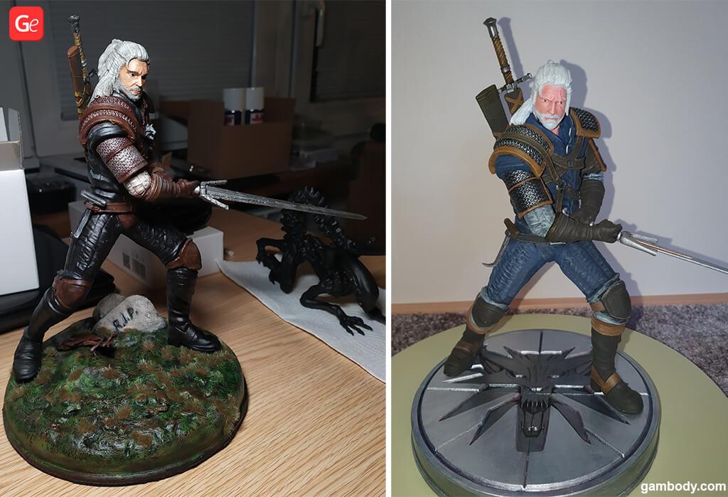 Witcher figurine 3D print Christmas presents