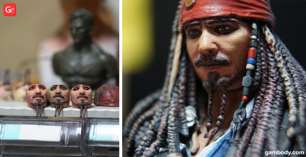 How to paint eyes 3D printed Jack Sparrow figurine