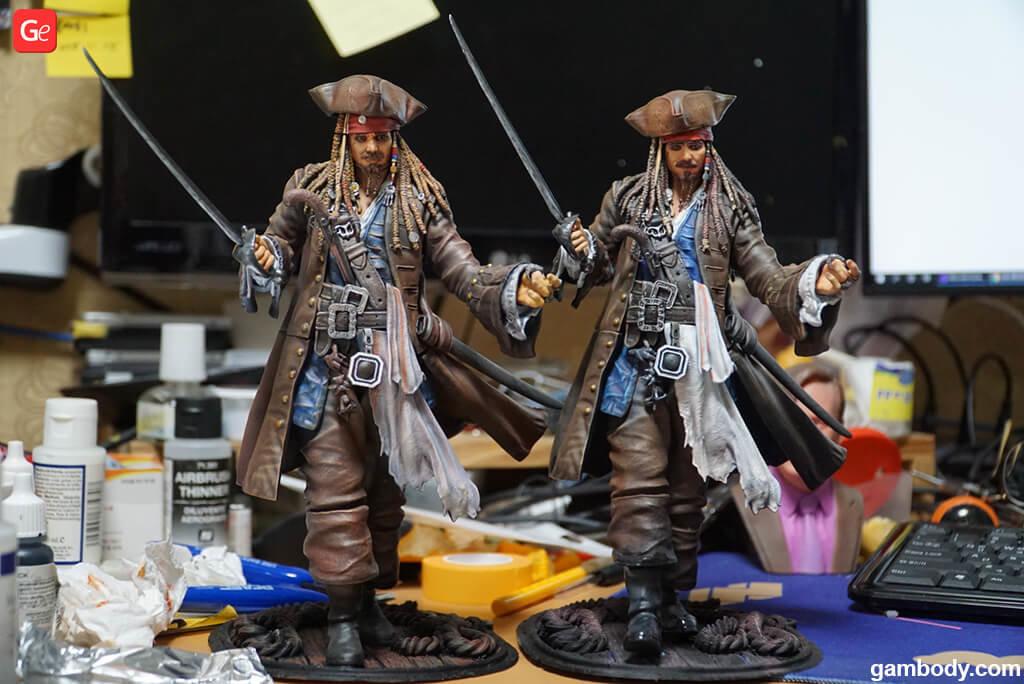 Pirates of the Caribbean 3D print Captain Jack Sparrow