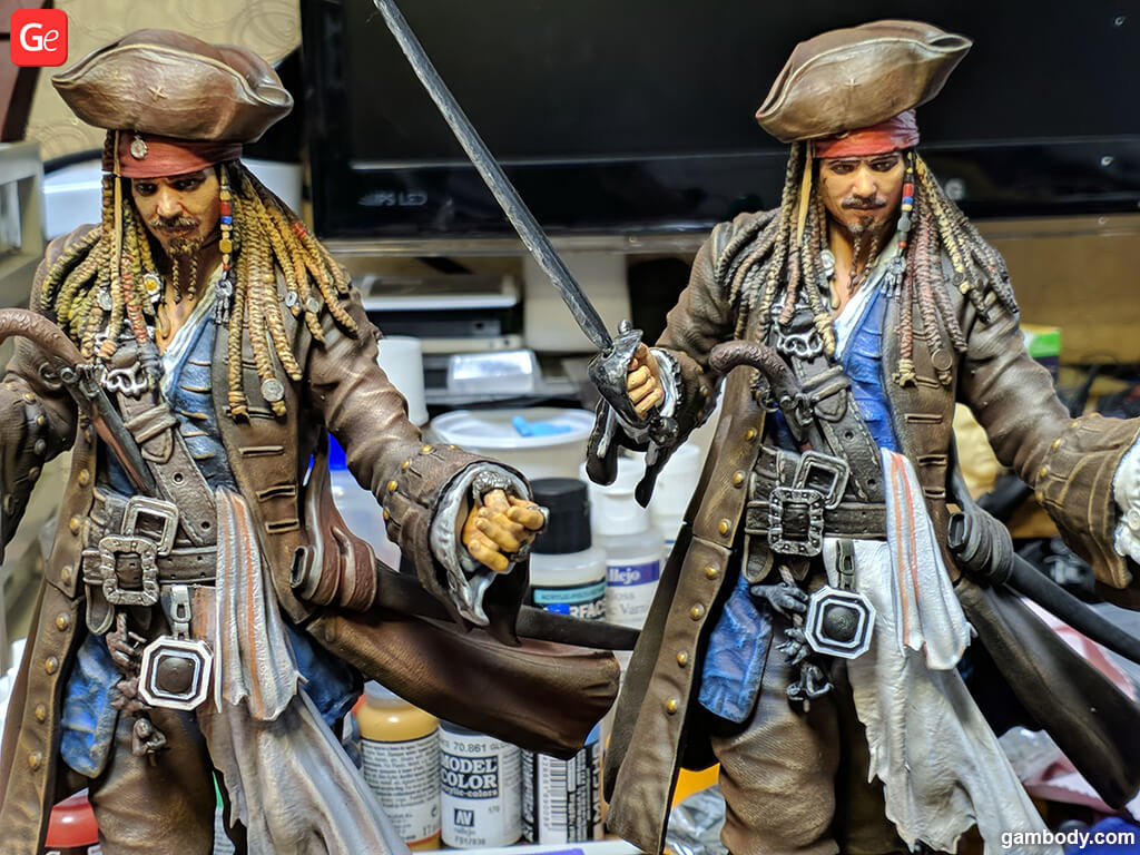 Captain Jack Sparrow pirate 3D print