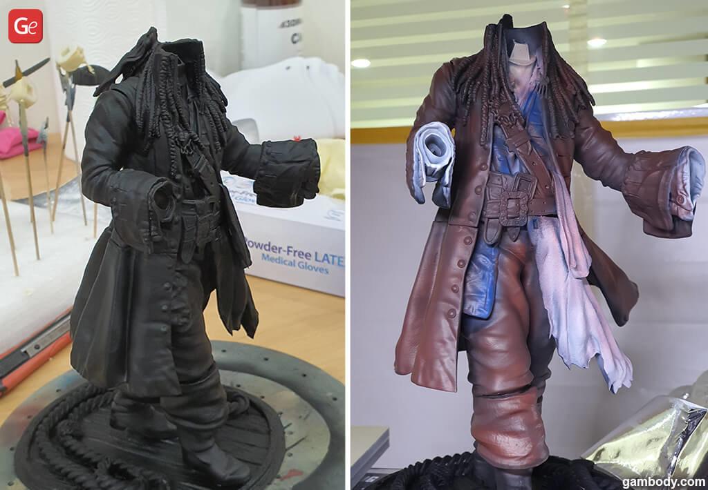 Painting Jack Sparrow 3D model print
