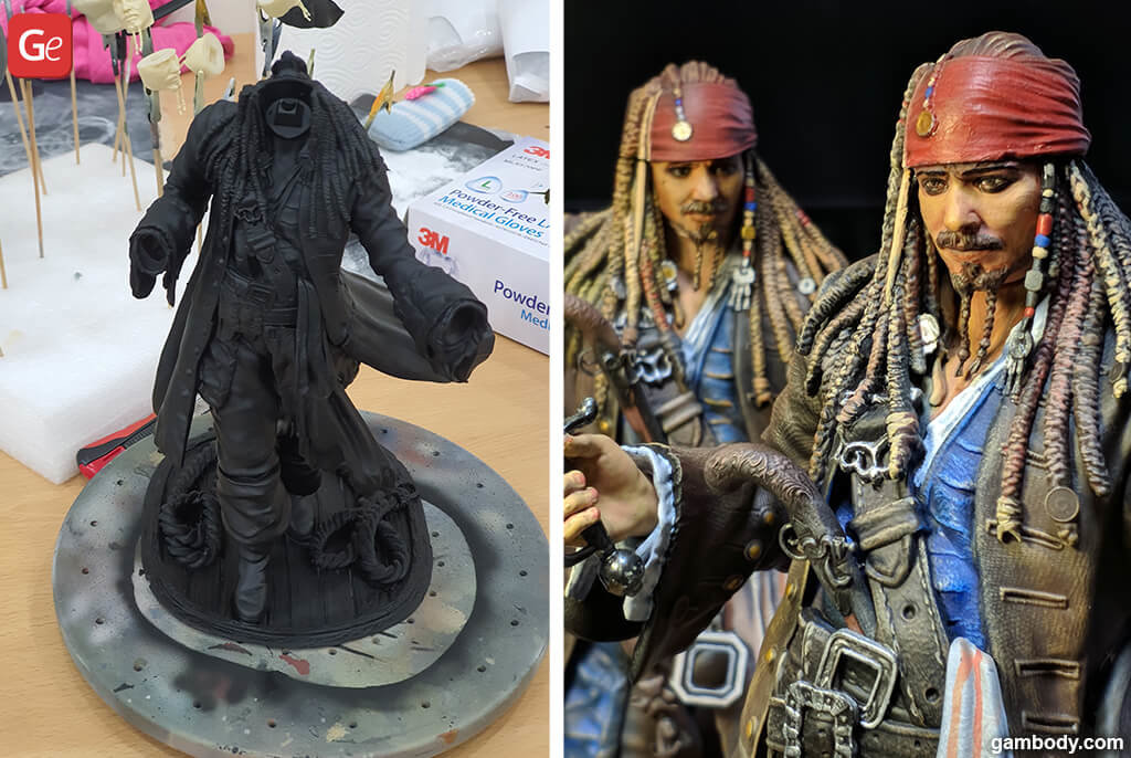 Pirate 3D printing figure Jack Sparrow