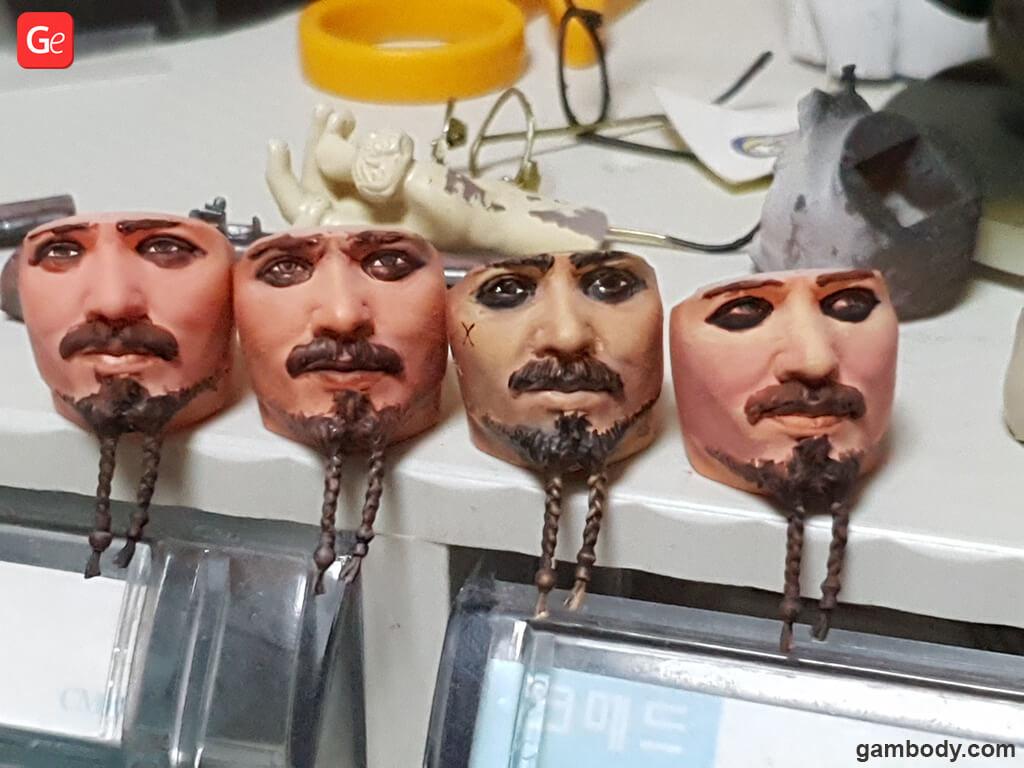Jack Sparrow 3D printed head