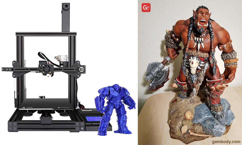 Best 3D printer for 300 dollars ANYCUBIC Mega Zero 2.0