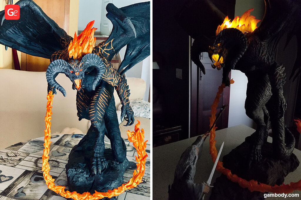 Balrog 3D print Lord of the Rings