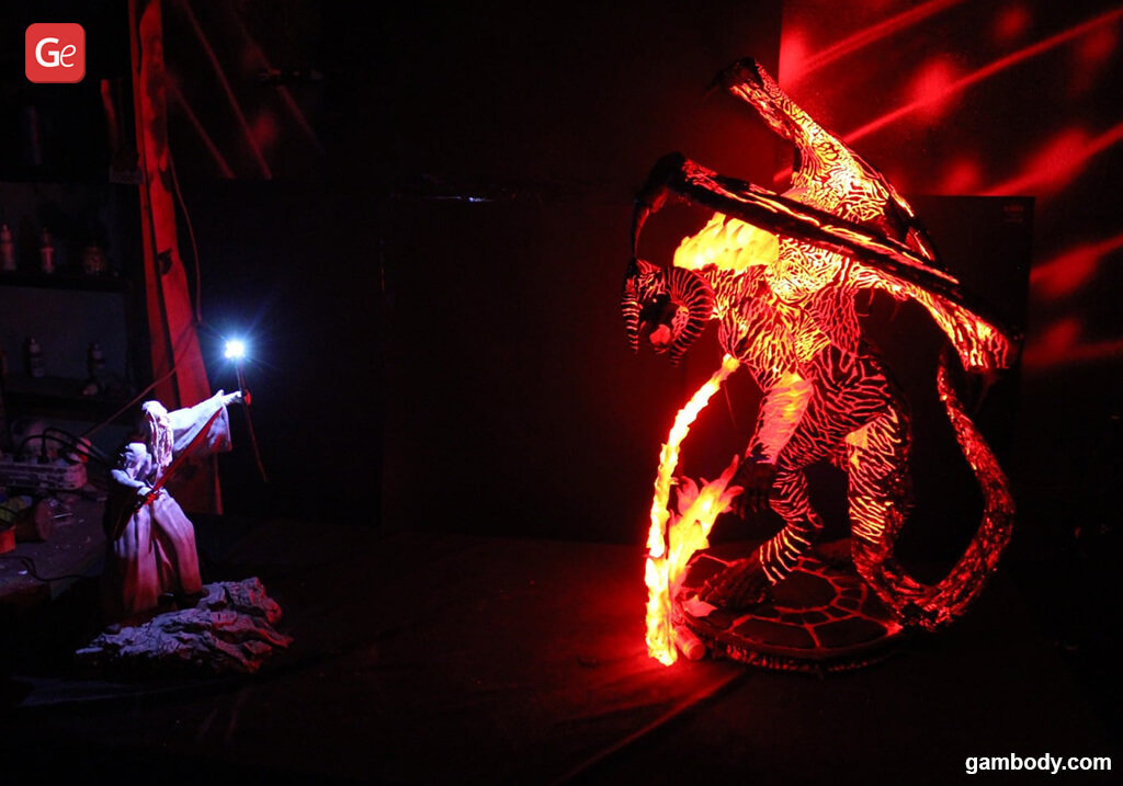 Balrog vs Gandalf Lord of the Rings miniatures STL files