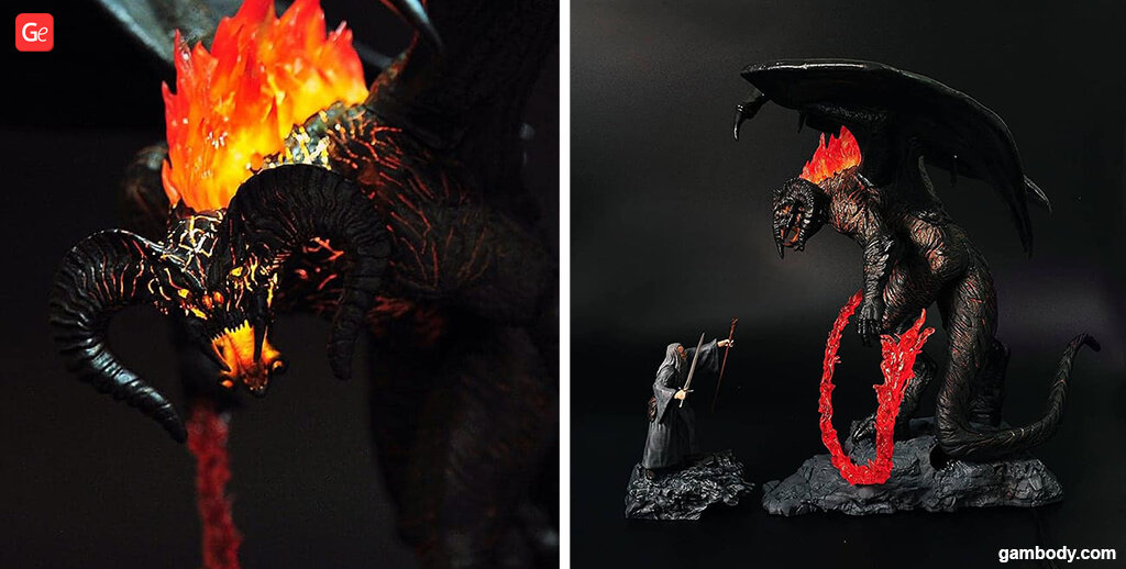 Balrog demon 3D printing figure LOTR