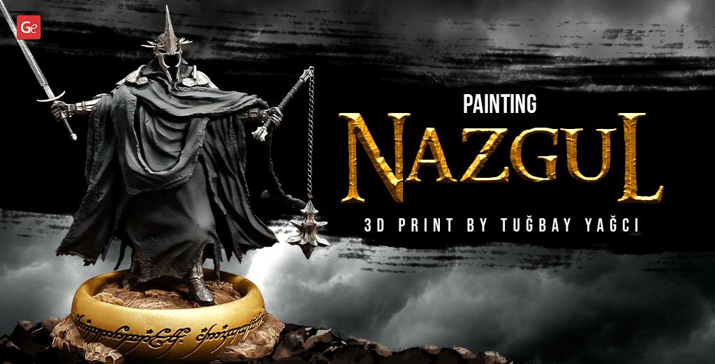 How to paint Nazgul 3D print LOTR model