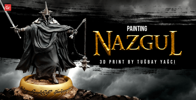 3D Print and Paint Nazgul, Witch-king of Angmar Figure: Tips by Tuğbay Yağcı