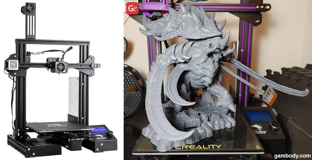 Creality Ender 3 Pro best 3D printer under $300 Ultralisk model