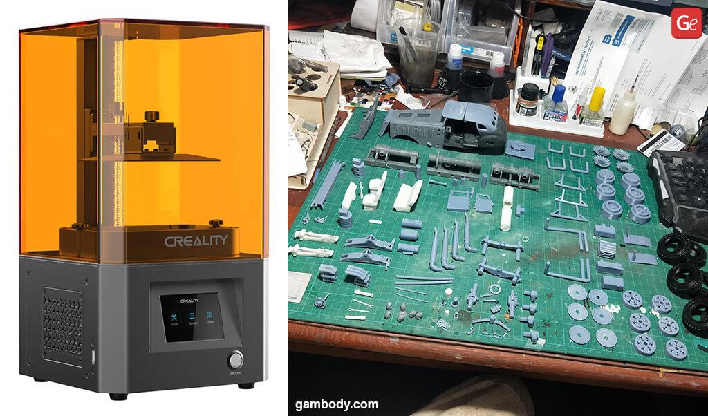 Creality LD002R 3D printer under 300 dollars Mad Max War Rig model