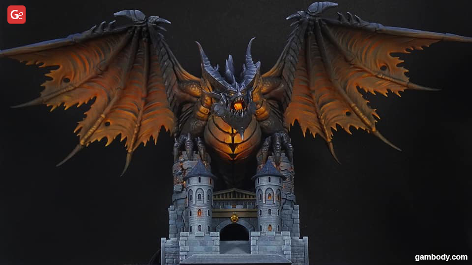 Deathwing model 3D printed