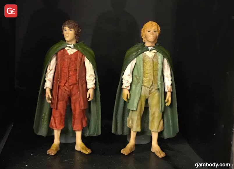 Frodo Baggins and Sam Lord of the Rings 3D printing models