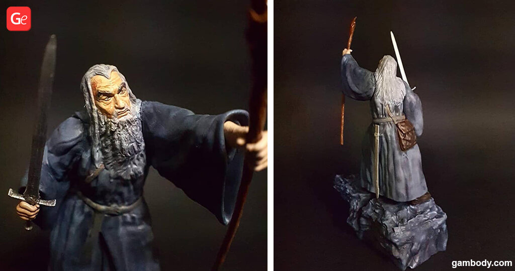 Gandalf the Gray figure for 3D printing