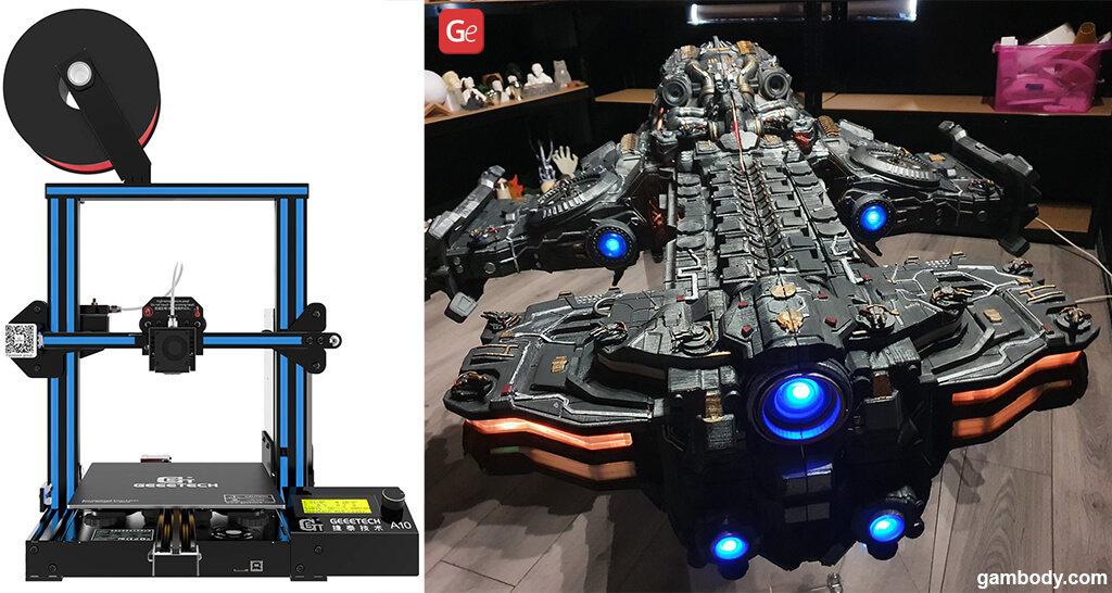 Largest 3D printer under 300 dollars Geetech A10