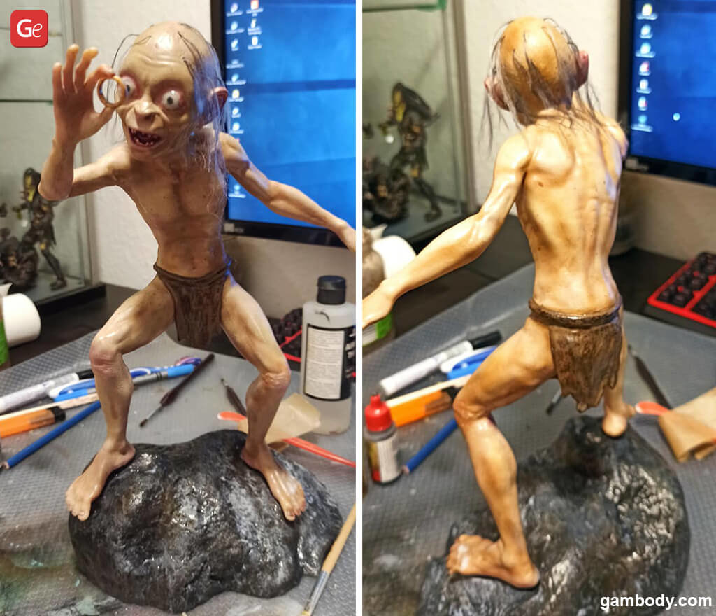 Gollum 3D print Lord of the Rings miniatures