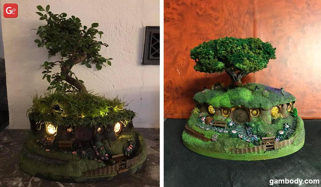 Hobbiton bonsai pot LOTR miniatures STL files