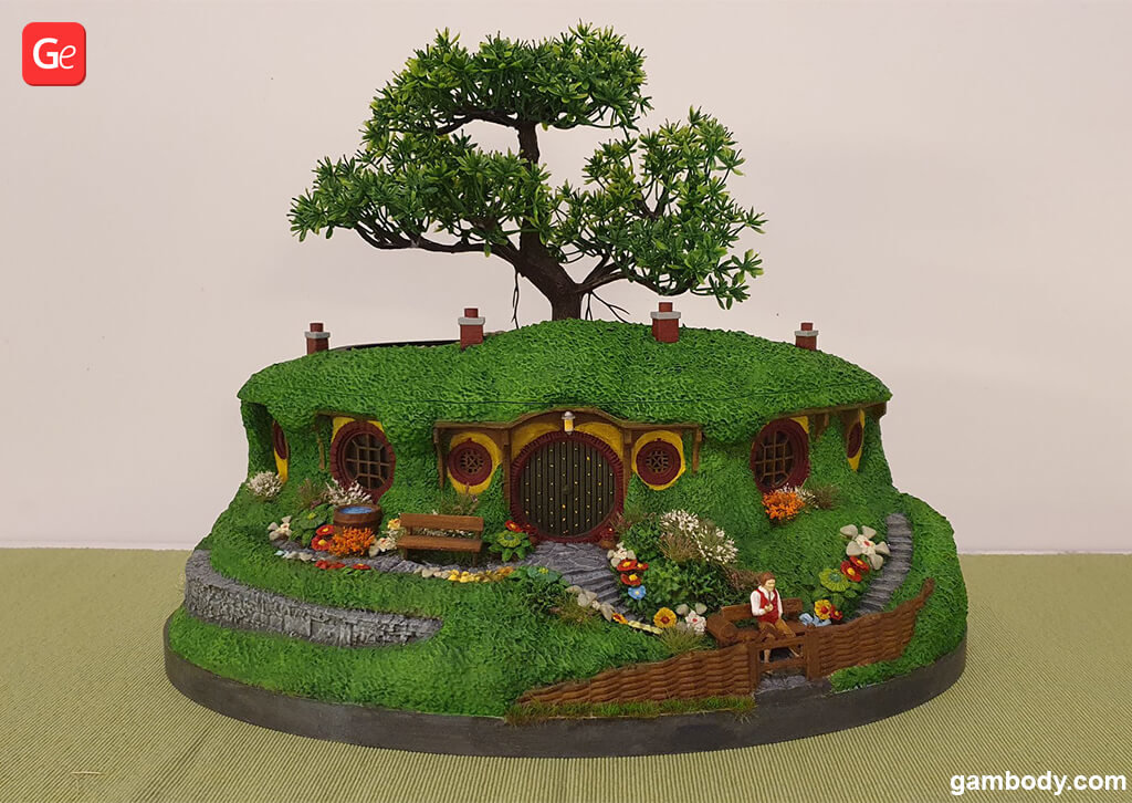 Hobbit house Lord of the Rings miniatures STL