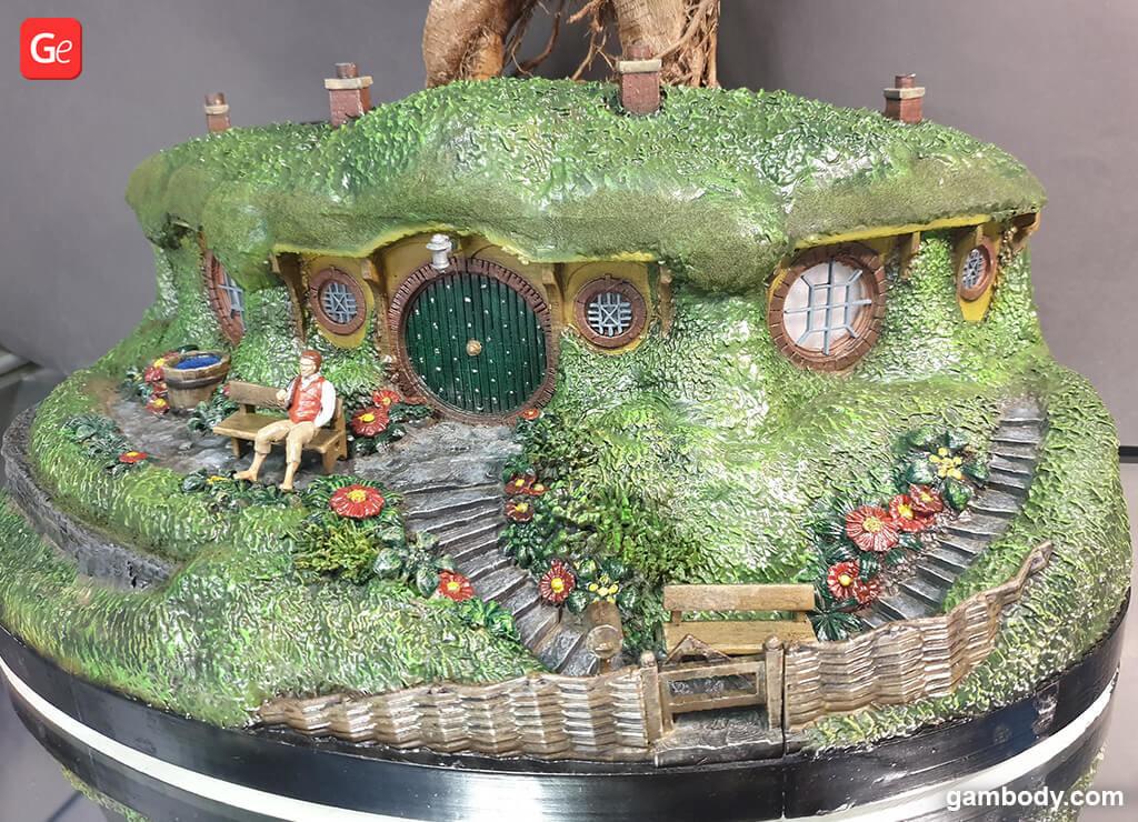 Bag end hobbit house bonsai pot for 3D printing