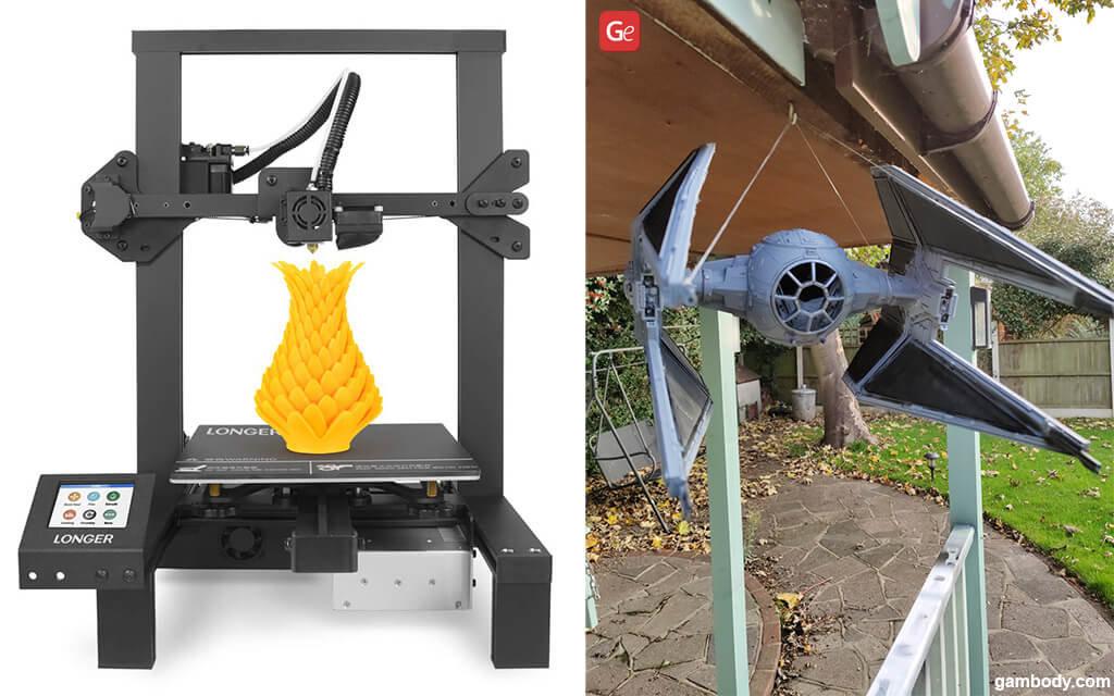 LONGER LK4 best 3D printers for $300 TIE Interceptor
