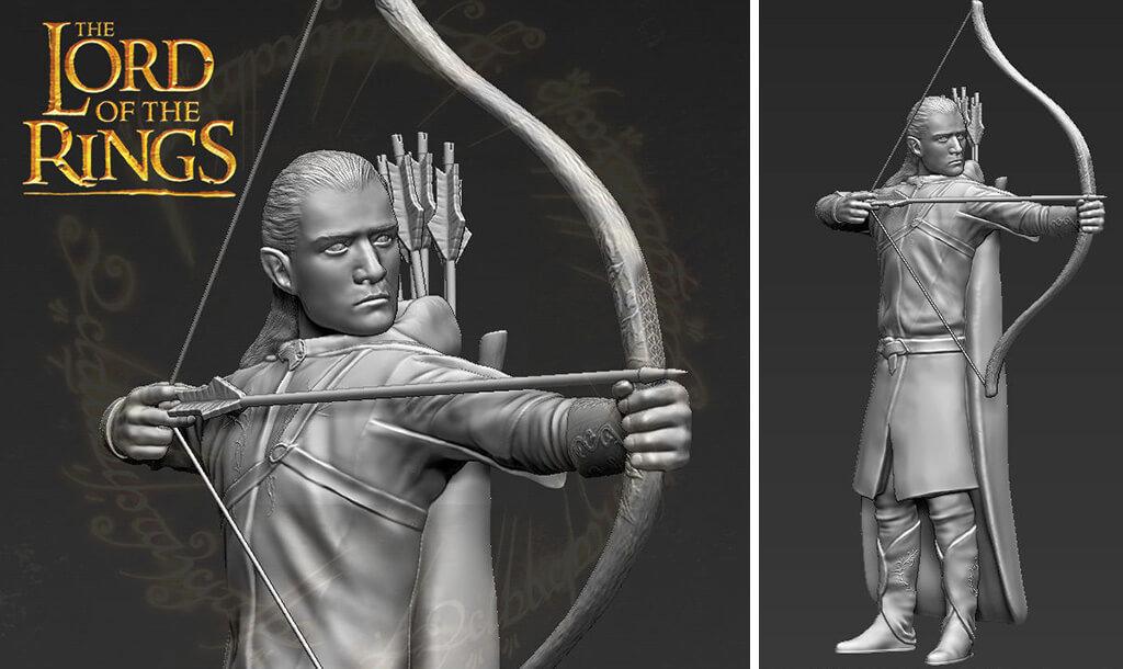 Legolas Lord of the Rings 3D print
