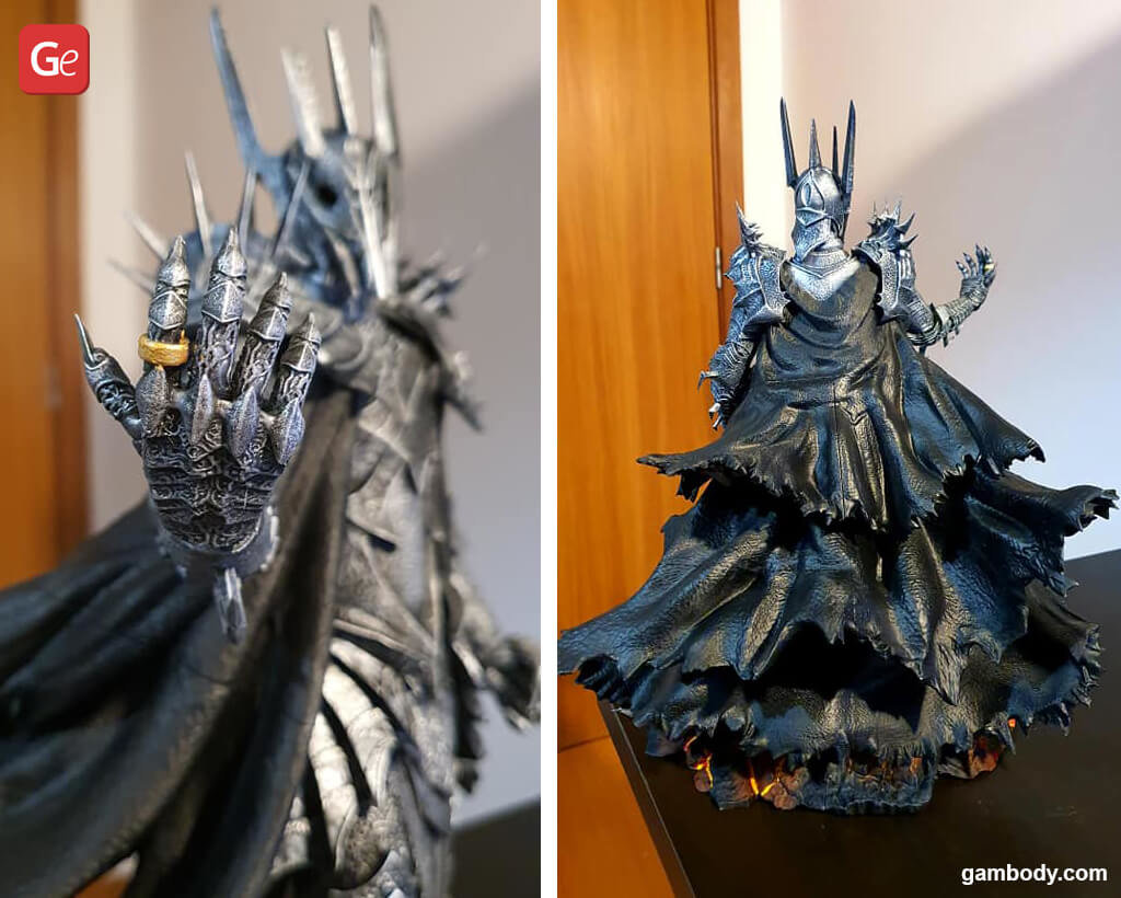 Sauron Lord of the Rings miniatures stl