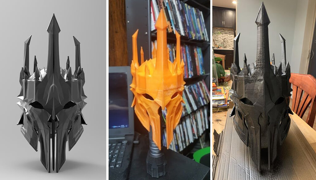 Sauron helmet 3D print LOTR
