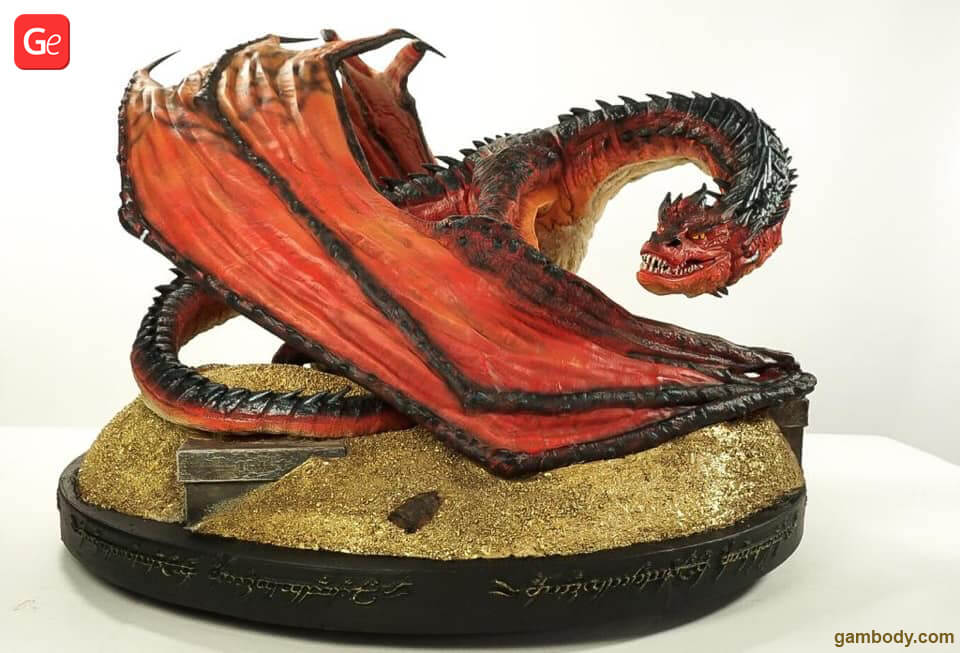 Smaug Hobbit 3D printing models