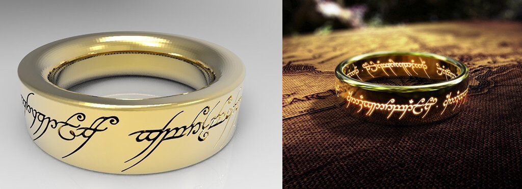 The One Ring LOTR 3D printing models