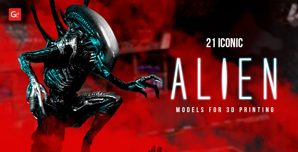 Alien movie models for 3D printing