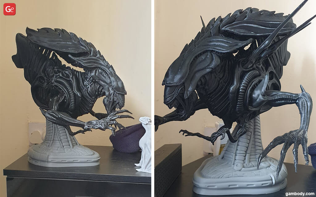 Alien Queen head STL movie models