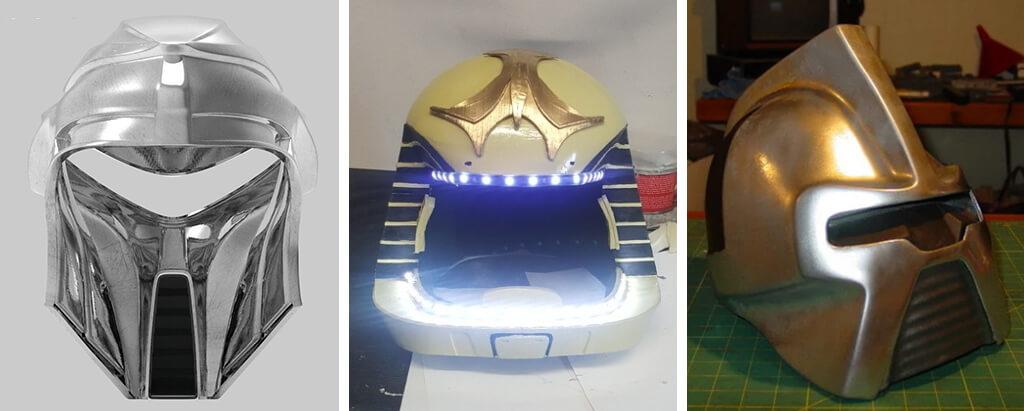 Battlestar Galactica helmet 3D printer files