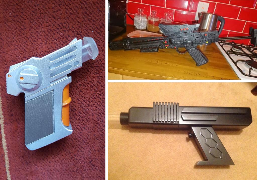 Battlestar Galactica pistols 3d print stl
