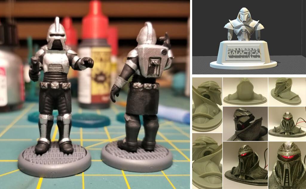 Battlestar Galactica Cylon models to 3D print