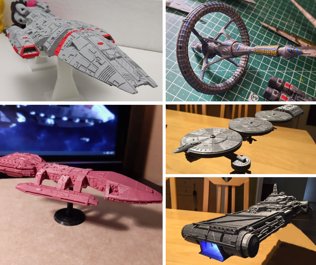 Battlestar Galactica ships 3D model to print